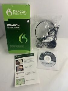 Nuance Dragon Dictate for Mac Version 3.0 Speech Recognition w/ Headset