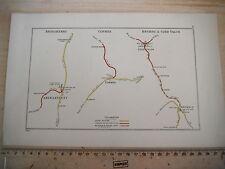BRYMBO COED TALON FFRITH CORWEN CYNWYD ABERGAVENNY LLANVIHANCEL RAILWAY MAP 1928