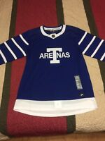Adidas Toronto Maple Leafs Arenas NHL Hockey Jersey NWT Size 46 Blank Adizero