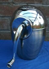 More details for vintage ice crusher,metal body chromed,manual professional,my 90's,23cm tall