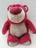 "Disney Store Pixar Toy Story Lotso Huggin bear Soft Plush strawberry scented 15"""