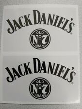 JACK DANIELS-CLEAR GLOSS FOR LAPTOPS RECTANGLE STICKERS(2-PCS 100mm x 60mm)-NEW