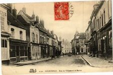 CPA Courtenay-Rue de Villeneuve et Mairie (264480)