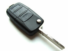 VW Golf Passat Polo Phaeton 3 Button Flip Remote Key Fob Case (Blank HAA Blade)