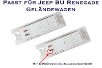 LED SMD Kennzeichenbeleuchtung Jeep BU Renegade Geländewagen (XL)
