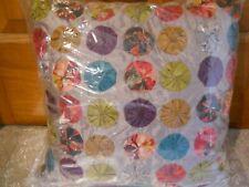 """Nwt Address Home Mini-Triangles Col. Decorative Pillow 16 x 6"""" $80 Multi-Colored"""