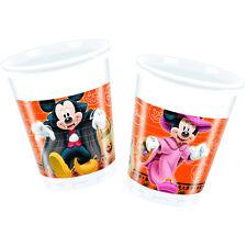 8 Disney Mickey & Minnie Mouse Orange Halloween Party 7oz Plastic Cups