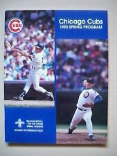 Chicago Cubs 1993 Spring Training Program Mariners Padres Giants Rockies Angels