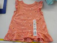 GIRLS SIZE 12 MONTHS JUMPING BEANS CORAL TUNIC HEARTS SHIRT NEW NWT #1483