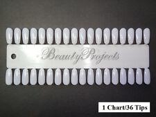 (36tips) 1 Chart Nail Art Polish Gel Design Display Palette Color Practice Tips