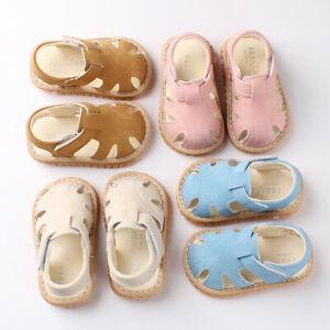 US Summer Newborn Baby Boy Girl Sandals Soft Sole Crib Shoes Sneaker Prewalker