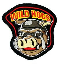 "4"" WILD HOGS HARLEY OWNER GROUP MOTORCYCLE BIKER CLUB IRON ON JACKET PATCH 382"