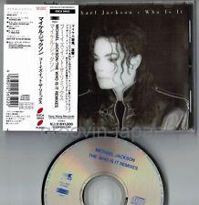 MICHAEL JACKSON Who Is It Remixes JAPAN CD w/OBI+6p PS BOOKLET ESCA 5652 Free SH