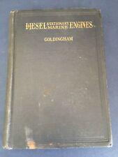 1921 DIESEL ENGINES MARINE & STATIONARY illustrated design .. Arthur Goldingham