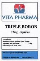 TRIPLE BORON 12mg 365 capsules SUPPORT STRONG BONES, TESTOSTERONE