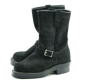 NEW | VIBERG 7 BLACK ROUGHOUT ENGINEER BOOTS 2005 LAST STITCHDOWN