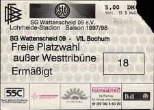 Billet 97/98 sg wattenscheid 09-vfl Bochum