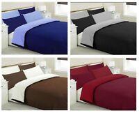 Modern Reversible Duvet Cover Set Quilt Cover Bedding Set Single Double King