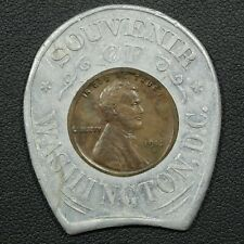 1912 D Encased Souvenir of Washington D.C. Lincoln Wheat Copper Cent