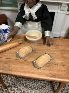 Dollhouse Miniature Artisan Set of 2 Fresh Baked Bread T & E Brownawell