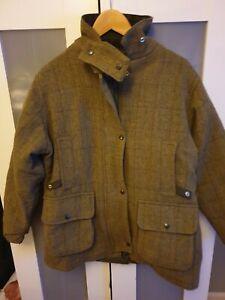 Ladies Tweed Shooting Jacket  Thick Warm. Size xl