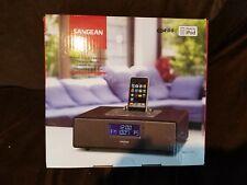 Sangean WR-5 FM RDS / AM RECEIVER WITH iPOD DOCK / Alarm Clock Table Top Stereo