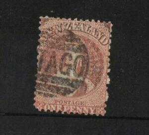 1862 New Zealand 1d orange Queen Victoria perf Used