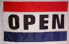 2x3 Open Advertising Flag 2'x3' House Banner Brass Grommets Nylon Poly