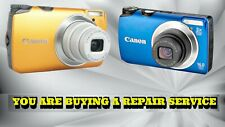 CANON A3200 IS OR A3300 IS DIGITAL CAMERA REPAIR SERVICE-60 DAY WARRANTY