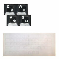 White Russian / Ukrainian Keyboard Stickers On Transparent Background for All PC