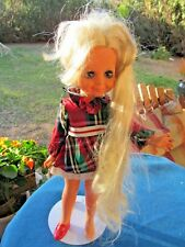 Ideal Velvet Doll 1969 1972 plaid orig dress Look Around Grow Hair Crissy Family