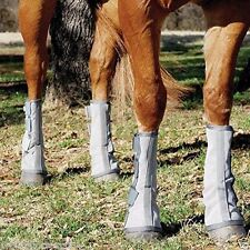 Cashel Crusader Horse Size FOUR LEG GUARDS Cool Mesh Boots Fly Control