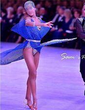 BALLROOM LATIN RHYTHM COMPETITION DANCE DRESS & ACCESSORIES SWAROVSKI CRYSTALS