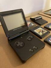 Nintendo Game Boy Advance SP - Schwarz - Pokémon Pinball - SIMS - Super Mario