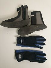 Deep See Gloves/Diver Shoes Set Boot Size 9 Glove Size XL