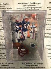 Tedy Bruschi New England Patriots Mini Helmet Card Display Case Collectible Auto