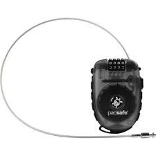 PacSafe Retractasafe 250 4-Dial Retractable Cable Combination Lock - Smoke