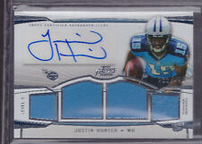 2013 Topps Prime Level V Justin Hunter Auto Jersey Rc Serial # to 449