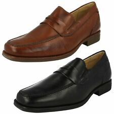 Mens Anatomic Rounded Toe Formal Slip On Leather Heeled Shoes Barbosa