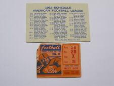 Nov 22, 1962 NY vs Denver Broncos Ticket Stub