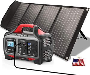 ⚡ 500W Portable 140400mA Puissance Station Solaire Générateur Pile + 100W Panel