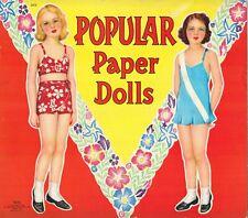 Vntg 1942 Popular Paper Doll Rare Uncut Hd Lasr Reproduction No.1 Ebay Seler Lo