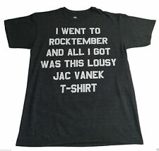 New (M) Element Rocktember Jac Vanek Gray Tee Shirt Music Designer Concert