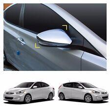 Side Mirror Cover Exterior Chrome Molding Trim for HYUNDAI 2012-2016 Accent