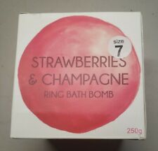 Strawberries and Champagne Pearl Ring Bath Bomb Size 7