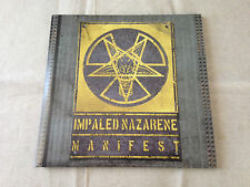 "IMPALED NAZARENE - Manifest LTD ED 2 x VINYL 10"" BRAND NEW! (Black Vinyl)"