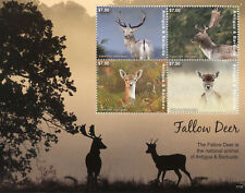 Antigua & Barbuda 2017 MNH Fallow Deer 4v M/S II Wild Animals Stamps