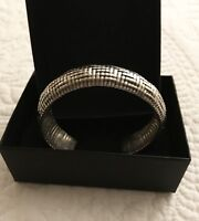 Thai Handcrafted Woven Sterling Silver Cuff Bracelet Womens