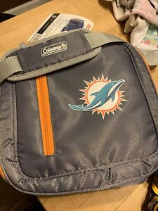 NWT COLEMAN Miami Dolphins 12 Can Messanger Cooler