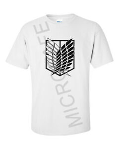 Mens Novelty Gift Unique Anime Attack On Titan Scouts Clan Logo T-Shirt   S - XL